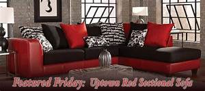 Featured friday uptown red sectional sofa american for Uptown red 2 pc sectional sofa