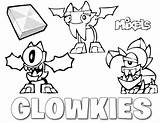 Glowkies Coloring Mixels Mixel Lego Series Pages Tribe Para Corner Colorir Salvo Eric sketch template