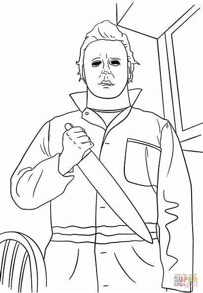 Myers Coloring Michael Pages Drawing Jason Printable