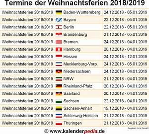 Ferien Nrw 2018 19 : weihnachtsferien 2018 und 2019 in deutschland alle bundesl nder ~ Buech-reservation.com Haus und Dekorationen
