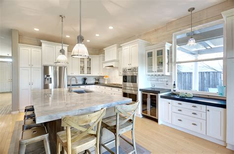kitchen diner flooring white quartzite kitchen traditional with shaker 1542
