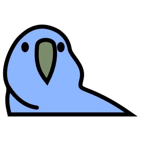 parrot partyparrot kakapo emoji stickers redbubble sticker dunkelblau