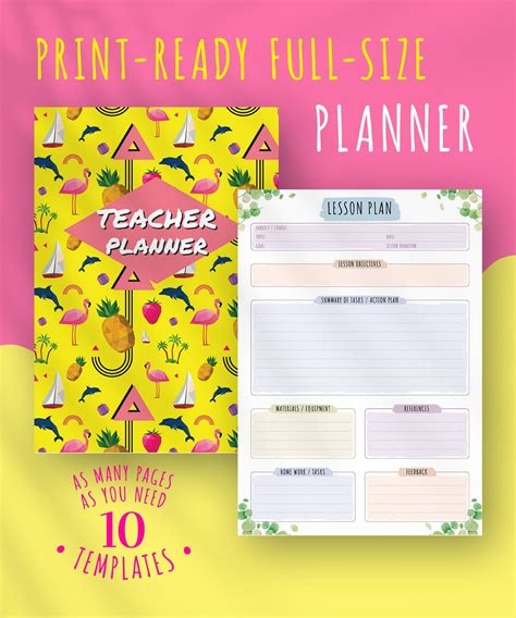 terrible  printable teacher planner marsha website