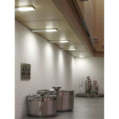 led kitchen lights uk sensio quadra plus u led cabinet 3 light kit at 6916