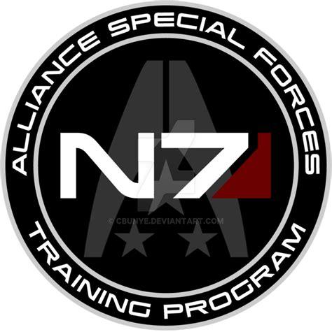 n7 mass effect mass effect n7 program custom logo by cbunye on