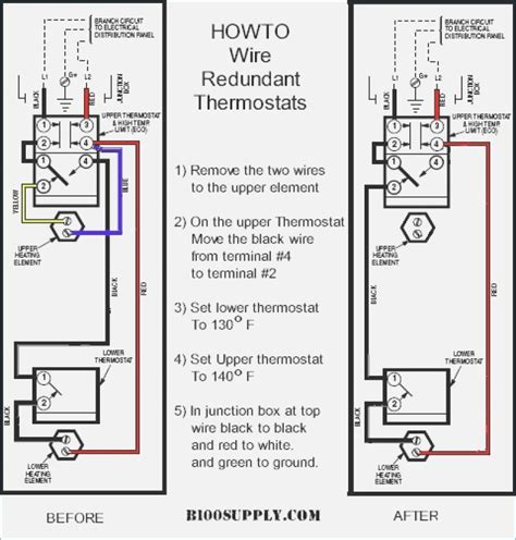water heater thermostat wiring diagram dual water