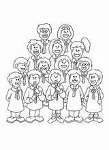 Coloring Choir Children Template sketch template