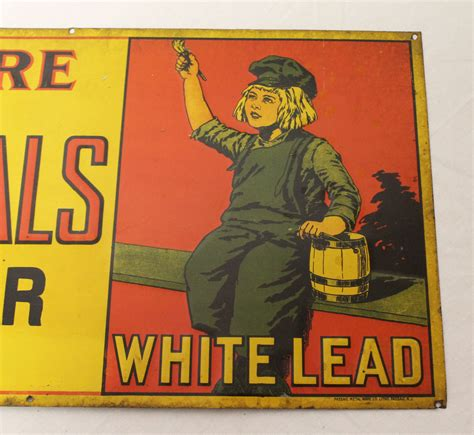 bargain johns antiques dutch boy white lead paint tin