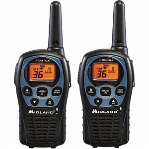 Midland 26-mile 36 Channel 2-way Radios - Black  2-pack -lxt560vp3
