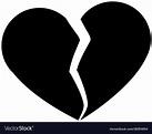 Broken heart symbol Royalty Free Vector Image - VectorStock