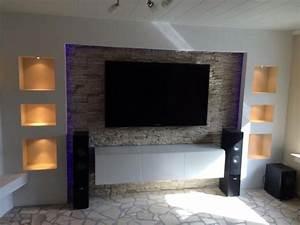 Wohnzimmer Tv Wand Ideen : die besten 17 ideen zu rigips auf pinterest tv wand mit rigips trockenbauwand und tv wand ~ Orissabook.com Haus und Dekorationen