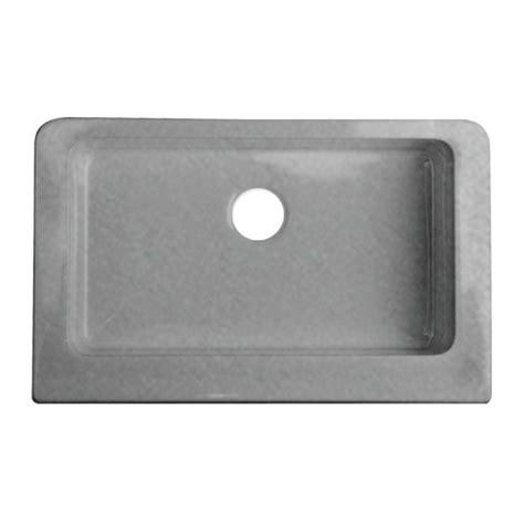 apron front sink lowes shop corstone metallic silver single basin acrylic apron