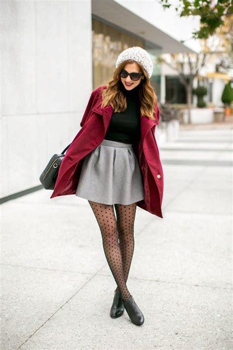 ideas  simple guide    wear skirt  winter
