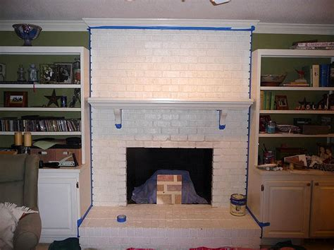 painting a fireplace how to paint brick fireplace brick anew