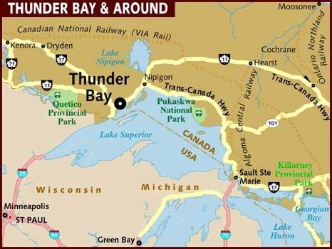 thunder bay canada province  ontario  populous