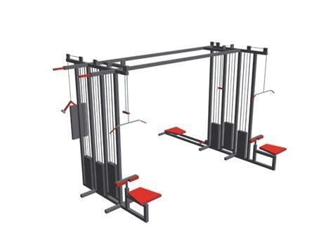 Lat pull down machine and cable cross pully 3d model 3ds