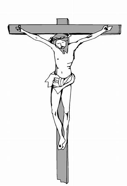 Jesus Cross Clipart Christ Printable Coloring Crucifixion