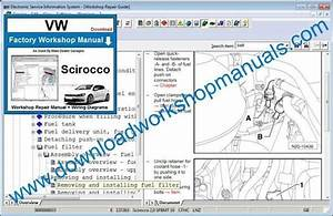 Vw Scirocco Workshop Manual