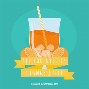 Blue background with orange juice Vector | Free Download