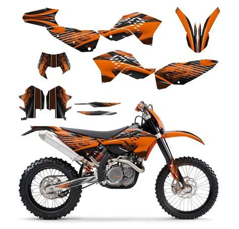 ktm exc xcf 125 250 300 450 530 graphics kit 2008 2009