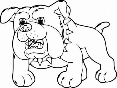 Coloring Puppy Dog Printable Bulldog Miedo Dibujos