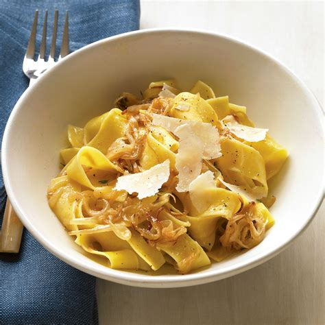 pappardelle  caramelized onions  parmesan recipe