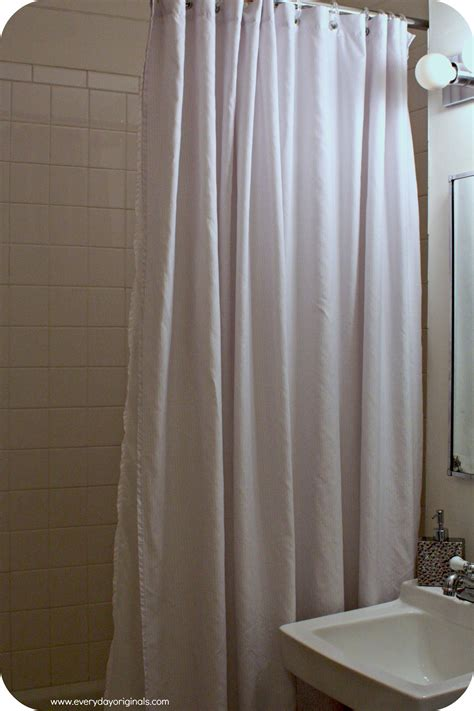 diy shower curtain with a bed sheet