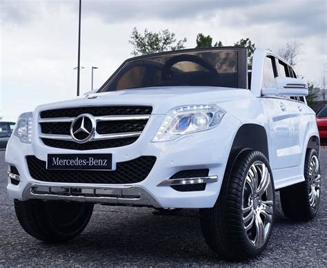 Mercedes White GLK 12V Ride on Car for kids with Remote