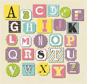 15 trendy scrapbook letters designs printable stickers for Print letter stickers