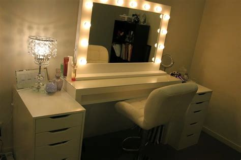 Bedroom Elegant Vanity Mirror With Lights For Bedroom