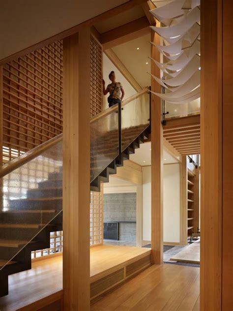 japanese architecture engawa architects seattle conard sullivan contemporary lake villa influence modern stairs interior inspired japan floor wood closet friends