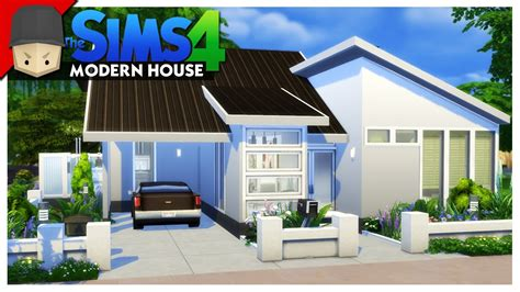 small modern house  sims  house building youtube