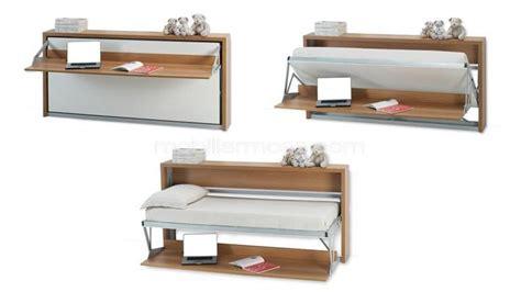 lit escamotable bureau intégré lit bureau escamotable pliable modulable mobilier moss