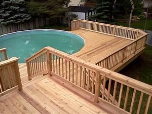 Pool Dach Rund : here 39 s a multi level pool deck for an above ground pool ~ Watch28wear.com Haus und Dekorationen