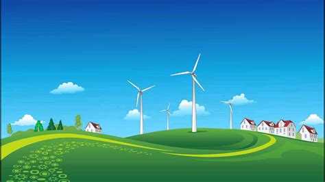 Animated Landscape Wallpaper - animated background windmills landscape