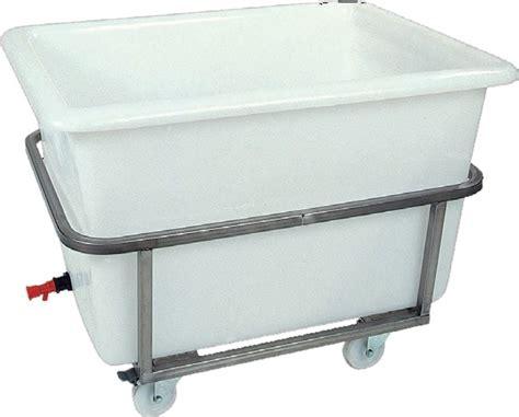 bac professionnel cuisine bac à glace sur châssis inox roulant 220 l polyéthylène
