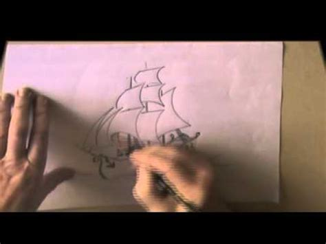 How To Draw A Tudor Boat by How Draw Sailing Ship