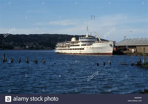 Ferry Boat Lake Victoria by Lake Ferry Mwanza Lake Victoria Tanzania Stock Photo