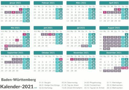 Die kalender laufen vom 1. FERIEN Baden-Württemberg 2021 - Ferienkalender & Übersicht