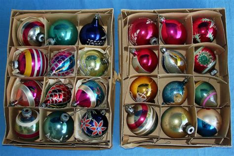 vintage tree ornaments invitation template
