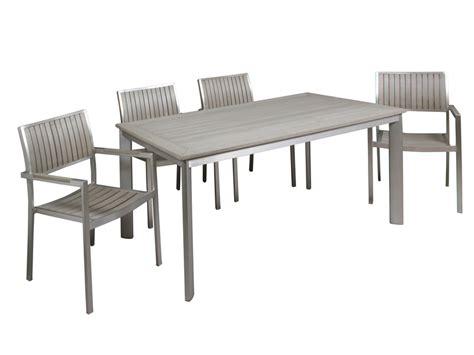 conjunto de jardin mesa   sillas de aluminio  sintetico