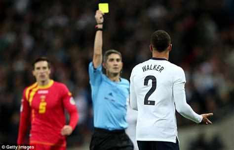 walker kyle poland gerrard england right suspended montenegro booked play win against miss he game