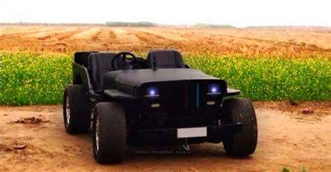 open jeep modified in black colour lowrider jeeps from india