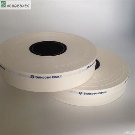 bundling moneybanknote kraft paper tape roll bill banding roll white paper roll