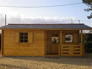 Chalet En Bois Habitable Livré Monté : chalet habitable de loisirs 40m2 en bois en kit sans mezzanine ~ Dailycaller-alerts.com Idées de Décoration