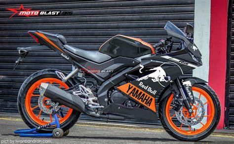 modifikasi all new yamaha r15 black redbull motoblast