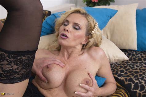 hot blonde milf doing her toy boy