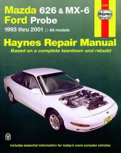 car service manuals pdf 1992 ford probe electronic valve timing mazda 626 mx 6 ford probe 1993 2001 haynes service repair manual sagin workshop car manuals