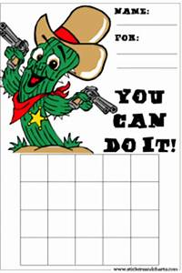 Cute Chore Chart Behavior Charts For Kids Cowboys Cowgirls And Rodeo Borders