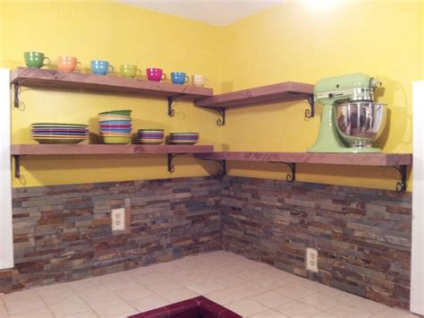Kitchen Shelves Ideas Pinterest - finally got our rough cedar shelves up new home ideas pinterest shelves and kitchens